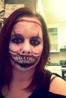 Twisty the clown makeup by Cameleonera