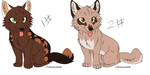 Wolf pup adoptables GONE by Piratewarriorcat