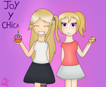 joy y chica FNAFHS  by Mylittlekitty33