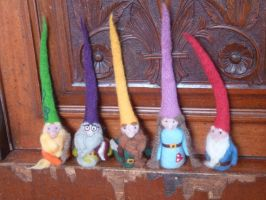 Family of Needle Felted House Gnomes by emma-hobbit