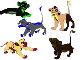 Lion Cubs Adopts FREE by KovuTheLionKing