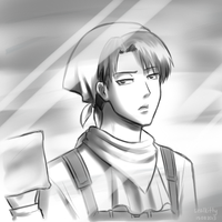 SNK/AOT - Cleaning Lance Corporal Levi by Sealkittyy