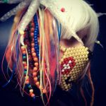 Cyberkandi wig WIP by KawaiiConfections