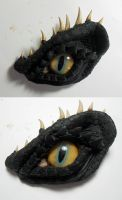 Black Dragon Eye Brooch by Caerban
