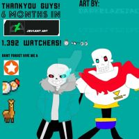 A LOT OF THANK YOU! 6months in D.A by Darkblazejack