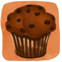 chocolate muffin by Tacaret