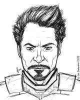 Iron Downey Jr. by 2Ajoe