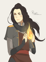 Firebender OC:Rae (Redesigned) by Ju-Liah