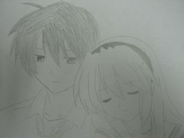 Tomoyo and Tomoya by Greedry
