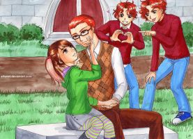 Crystal, Percy and the twins by Alkanet