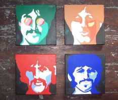 john, paul, george and ringo by markcrossey
