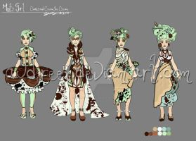 Minty Girl:  Ice Cream Dress by AudreyGreenhalgh