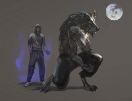 Werewolf male by oakenvial