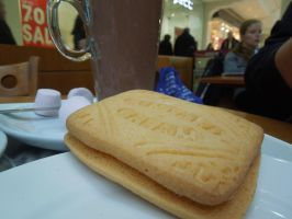 Giant custard cream!!!! by timeywimeystuff13