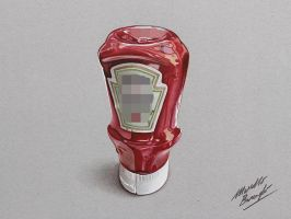 Heinz Tomato Ketchup DRAWING by Marcello Barenghi by marcellobarenghi