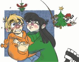 KND - Love Under the Mistletoe by D00Mk1tty14