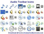 Audio Toolbar Icons by Ikont