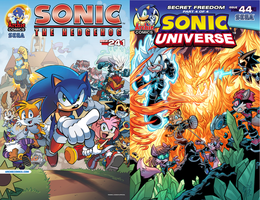 Sonic the Hedgehog #241 and Sonic Universe #44 by RocketSonic