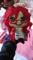 Grell Sutcliffe plushie by fatelinkstheetome