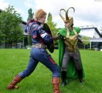 Loki + Captain America - Comic Con Germany Cosplay by Mon-Kishu