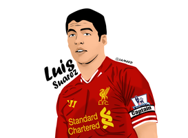 Luis Suarez by al3ameed1927