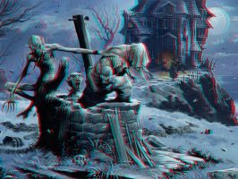 Three Devils at the Well 3-D conversion by MVRamsey