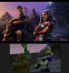 Ocarina of time ending (overpaint) by Siga4BDN
