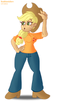 MLP Humanized Practice: Applejack by SB99stuff