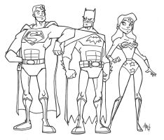 Justice League Trinity - Inks by tyrannus