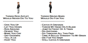Rick Astley vs Bruno Mars by unusable