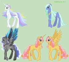 MLP OC elemental adoptables - closed by snakehands
