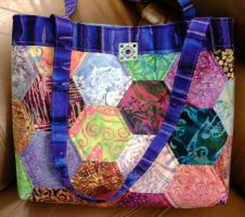 Hexagon quilted bag by unicornslave