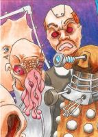 Doctor Who ATC Triptych - Panel One by burning-thirteen
