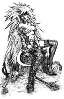 Angela Uncolored (2013) by LAN0RA