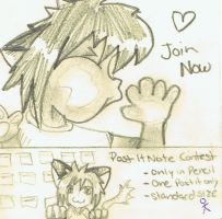 CONTEST POST IT NOTE by PeAcHesSwEeTiE