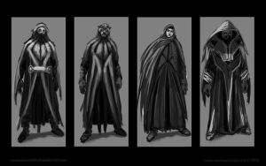 character costume concepts by Colin-Ashcroft