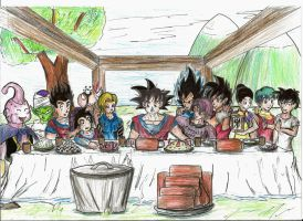 Gokus last meal (with Vegeta) by Arenthor