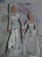 OOAK snow elves by DivinityNemesis