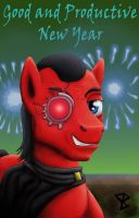Red Eye wishing good and productive New Year by DaOldHorse
