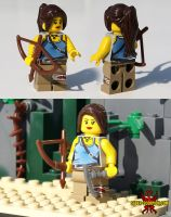 Lara Croft LEGO Minifig (Tomb Raider 2013) by Saber-Scorpion