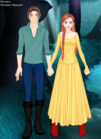 Darryn and Edolie Dress Up by Porcelain-Requiem