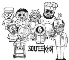 South Park vs Slipknot by Legribouilleur