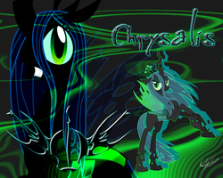 Queen Crysalis - Wallpaper 01 by PonyChaos13