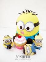 Minion Cake Ba ba ba banana by StrawberryStory