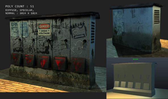 Low poly 3d game asset -Electro box by theExpressor