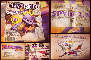 Spyro-Spyro 2 Official Playstation Magazine by KrazyKari