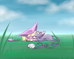 CP - Delcatty and Glameow by Iiyume