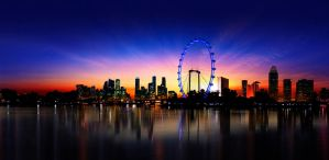 Singapore Flyer panorama by jerxzman