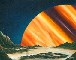 PLANET RISE by VisionaryImagist