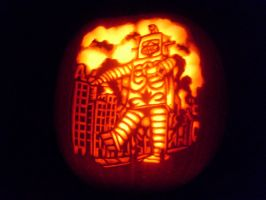 killer robot-o-lantern by NParten
